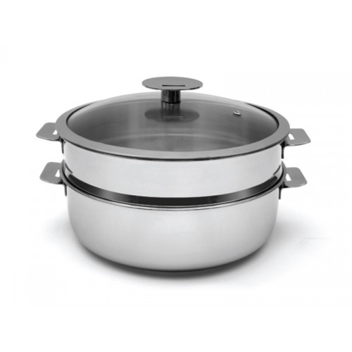 Covered Sautepot 24cm with Steamer