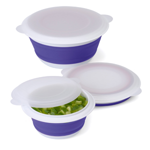 Progressive Set of 3 Collapsible Bowl Blue